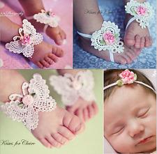 3 Stück Baby Kleinkinder Headwear Fuß Blume elastische Haarband Stirnbänder
