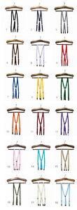 Skinny Thin Braces Suspenders 1.5cm Wide, Made in Japan, Free P&P, Mod, Preppy