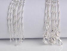 "10Pcs 26"" Wholesale Jewelry Lot 60% Silver ""Water Wave"" Chain Necklace Pendant"