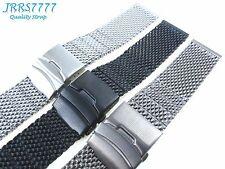 22mm Watch Bracelet Multicolored Stainless Steel Shark Mesh Heavy Wristband New