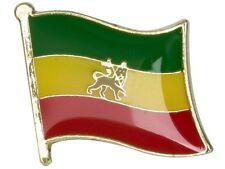 ETHIOPIA LION OF JUDAH FLAG ENAMEL PIN BADGE REGGAE RASTA BRAND NEW FREE POST