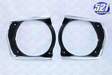 Mopar 71 72 Duster Scamp Headlight Bezel Trim Surround Grill Bezels Pair Set NEW