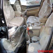 Universal 100X Disposable Plastic Car Seat Covers Protectors Mechanic Valet Roll