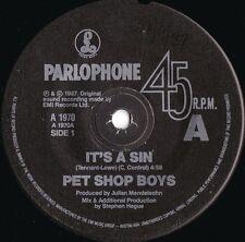 Pet Shop Boys ORIG OZ 45 It's a sin EX '87 Parlophone A1970 Dance Pop
