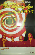 Fu Manchu We Must Obey, original Century promotional poster, 2007, 11x17, Ex!