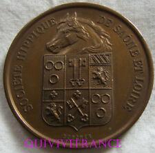 MED6370 - MEDAILLE SOCIETES HIPPIQUES SAONE & LOIRE 1887 CONCOURS CHEVEAUX