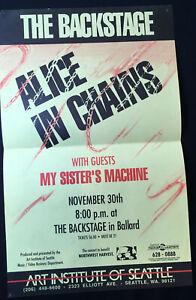 Alice in Chains 1989 Original Gig Poster Seattle Backstage Nov 30