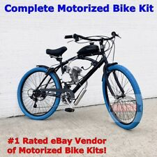 Big Blue Motorized Cruiser Bicycle - MoPed - Motor Bike - Do It Yourself & Save!