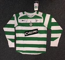 2006 CELTIC FOOTBALL CLUB LONG SLEEVE JERSEY SIGNED BY MASSIMILANO - SIZE M NWT
