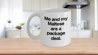 Maltese Mug Coffee Cup Funny Gift for Toy Dog Owner Lover Mom Dad Package Deal