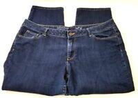 Sonoma Capri Jeans Stretch Fit Dark Wash Stretch Denim Mid Rise Womens Size 16