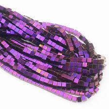 "2-10mm Hematite Square Loose Beads 15"""
