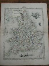 1850 engraved map of England & Wales by Adlard, with original hand colour