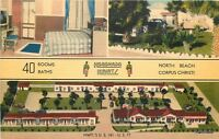 1940s Birdseye View Koronado Kourts CORPUS CHRISTI Texas Linen MWM postcard 5258