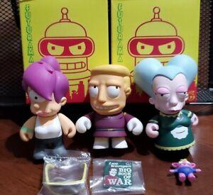 "Kidrobot Futurama Mini Blind Box Figures Lot Vinyl Toys 3"" Lela Zapp and Mom"