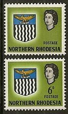 """NORTHERN RHODESIA 1963 6d """"VALUE OMITTED"""" SG80a MNH"""