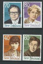 La Nouvelle Zélande 1989 auteurs Set de 4 fine utilisé