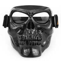 Monster Motorcycle Skull Mask Goggles Open Face Half Vintage Retro Helmets Masks