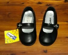 Smart Fit Toddler Girl's Cute Black Flat Maryjane Dress Shoes Size 5