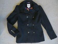SUPER CUTE Hydraulic black pea coat - womens M