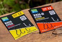 Preston Innovations KKH Eyed Barbed/Barbless Hooks *5 Packs* - Free Delivery