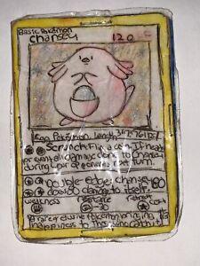 CHANSEY Holo Base Set 2 3/130 Pokemon Card Rare*1 Of 1 Imitation*