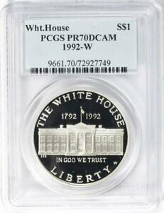 1992-W White House Commemorative Silver Dollar - PCGS Proof-70 Deep Cameo