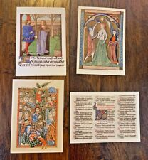 Vintage 1970's British Museum Library Religious Jesus Renaissance Postcards