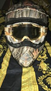 AFX FX-17 Camo MX Motocross Off-road helmet With 100% Accuri Goggles