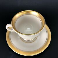"""Pickard Palace Cup & 4.5"""" Saucer VTG Hand Decorated Hard to Find Beautiful Set"""