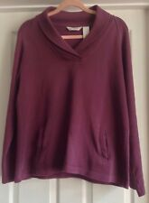 ORVIS WOMENS COTTON JUMPER - PURPLE - SIZE SMALL