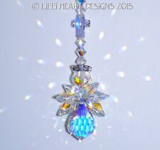m/w Swarovski AB Guardian ANGEL + CROSS for CAR SunCatcher Lilli Heart Designs