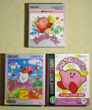 Game boy koro Hoshi no Kirby 1 2 gameboy color GB Nintendo 3 games tested Japan