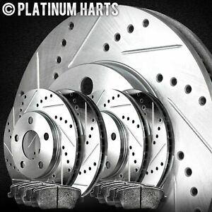 [FULL KIT]PLATINUM HART DRILLED SLOT  BRAKE ROTORS AND SEMI MET PAD PHCC.6214103