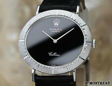 Rolex Cellini 18k White Gold Swiss Made Mid Size Men's 1974 Vintage Watch DC2
