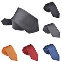 Luxus 100% Seide Krawatte Herren Gestreift Solide Seide Krawatte Hochzeit