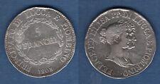 Italie 5 Franchi 1808 TB - Toscane Felix et Lisa Lucques et Piombino - Itali