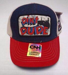 "International Harvester ""Dirt Dude"" Blue Jean/Red/Tan Toddler's Cap"