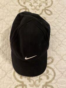 🎼NIKE Baby Infant hat Adjustable Unisex Black white logo GUC