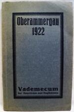OBERAMMERGAU PASSION PLAY GERMANY SOUVENIR GUIDE BOOKLET 1922 VINTAGE VADEMECUM