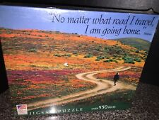 """550 PC JIGSAW PUZZLE """"No Matter What Road Travel"""" Great American Puzzle Factory"""