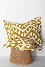 One Urban Outfitters Sawtooth Standard Sham by Magical Thinking Golden Green