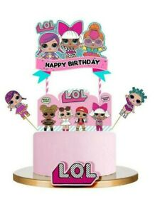 Happy Birthday LOL Dolls LOL Surprise Cake Decoration Topper Party