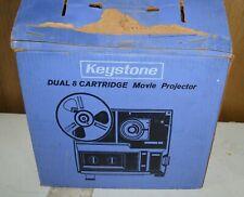 Vintage Keystone 442 Dual 8 Cartridge Movie Projector In Box