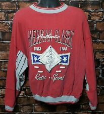 Vintage American Authentic Classic Retro Sport Men's Red Baseball Sweater (XL)