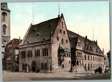 Halberstadt. Rathaus mit Roland. PZ vintage photochromie, Deutschland photochr