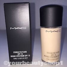 New Mac Foundation Studio Fix Fluid Foundation  SPF 15 NW10 100% Authentic
