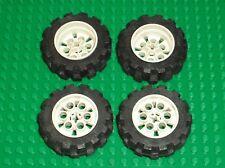 4 x Roue LEGO TECHNIC white wheel 4266 & tyre 20 x 30 ref 2857 / Set 8074 & 8840