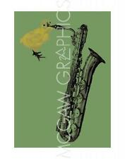 ANIMAL ART PRINT Sax Chick Jason Laurits
