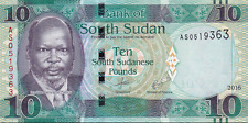 South Sudan 10 Pounds 2016 P-NEW UNCIRCULATED